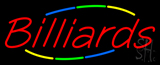 Multicolored Deco Style Billiards Neon Sign