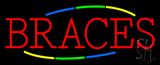 Multi Colored Deco Style Braces Neon Sign