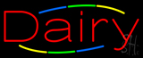 Multi Colored Deco Style Dairy Neon Sign