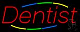 Deco Style Multi Colored Dentist Neon Sign