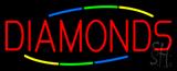 Multicolored Deco Style Diamonds Neon Sign