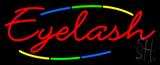 Deco Style Multi Colored Eyelash Neon Sign