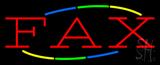 Multi Colored Fax Neon Sign