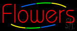 Deco Style Flowers Neon Sign