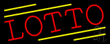 Red Lotto Neon Sign