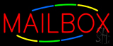 Multicolored Deco Style Mailbox Neon Sign