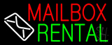 Mailbox Rental Logo Neon Sign