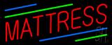 Red Mattress Green Blue Line Neon Sign