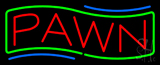 Red Pawn Green Border Neon Sign