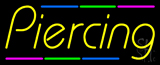 Piercing Multi Colored Line Neon Sign