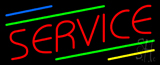 Red Service Neon Sign