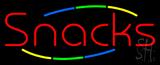 Multi Colored Snacks Neon Sign