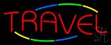 Multicolored Deco Style Travel Neon Sign