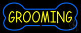 Blue Bone Yellow Grooming Neon Sign