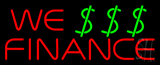 Red We Finance Dollar Logo Neon Sign
