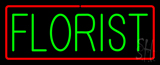 Green Florist with Red Border Neon Sign