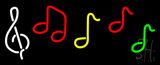 Musical Notes LED Neon Sign