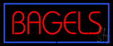 Red Bagels with Blue Border LED Neon Sign