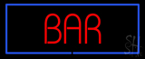 Red Colored Bar with Blue Border LED Neon Sign