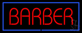 Red Barber with Blue Border LED Neon Sign