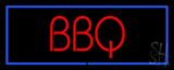 BBQ with Blue Border LED Neon Sign