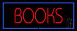 Red Books with Blue Border LED Neon Sign