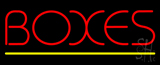 Boxes Yellow Line LED Neon Sign
