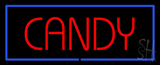 Red Candy with Blue Border LED Neon Sign