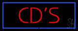 Red CD'S Blue Border LED Neon Sign