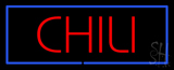 Red Chili Blue Border LED Neon Sign