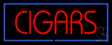 Red Cigars with Blue Border LED Neon Sign