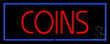 Red Coins Blue Border LED Neon Sign