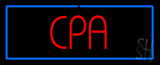 Red CPA with Blue Border LED Neon Sign