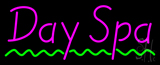 Pink Day Spa Green Waves Neon Sign