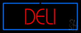 Red Deli with Blue Border LED Neon Sign