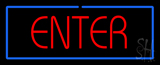 Red Enter with Blue Border LED Neon Sign