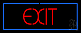 Red Exit LED Neon Sign with Blue Border LED Neon Sign