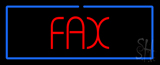 Red Fax Blue Rectangle Neon Sign