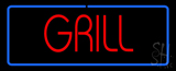 Red Grill with Blue Border LED Neon Sign