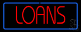 Red Loans with Blue Borer LED Neon Sign
