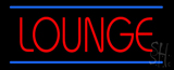 Lounge LED Neon Sign with Blue Lines