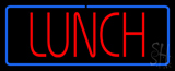 Red Lunch Blue Border LED Neon Sign