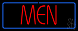 Red Men with Blue Border LED Neon Sign
