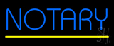 Blue Notary Yellow Line LED Neon Sign