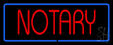 Red Notary Blue Border LED Neon Sign
