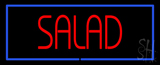 Red Salad with Blue Border LED Neon Sign