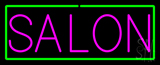 Pink Salon with Green Border Neon Sign