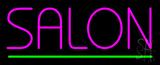 Pink Salon Green Line LED Neon Sign