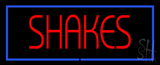 Red Shakes with Blue Border LED Neon Sign