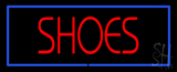 Red Shoes Blue Border LED Neon Sign